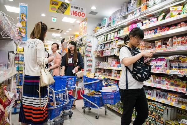 ▲%既毡久馑耙┳?药妆店,免税,日本旅游,购物消费。(图/记者季相儒摄)